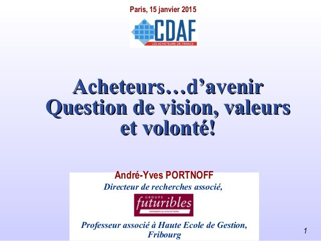 andre-yves.portnoff@wanadoo.fr 1 Acheteurs…d'avenirAcheteurs…d'avenir Question de vision, valeursQuestion de vision, valeu...