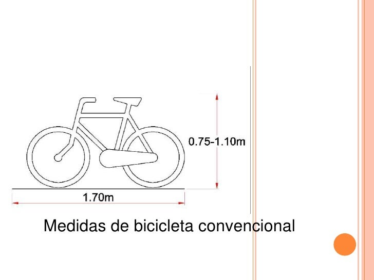 Medidas de bicicleta convencional