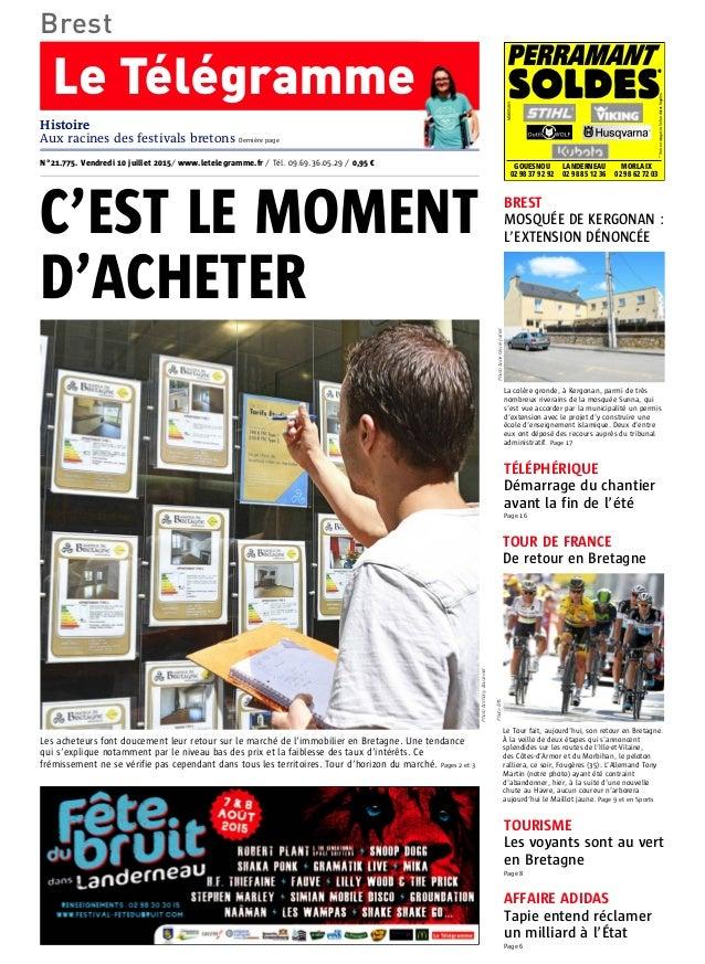 Histoire Aux racines des festivals bretons Dernière page BREST MOSQUÉE DE KERGONAN : L'EXTENSION DÉNONCÉE MX805463 GOUESNO...