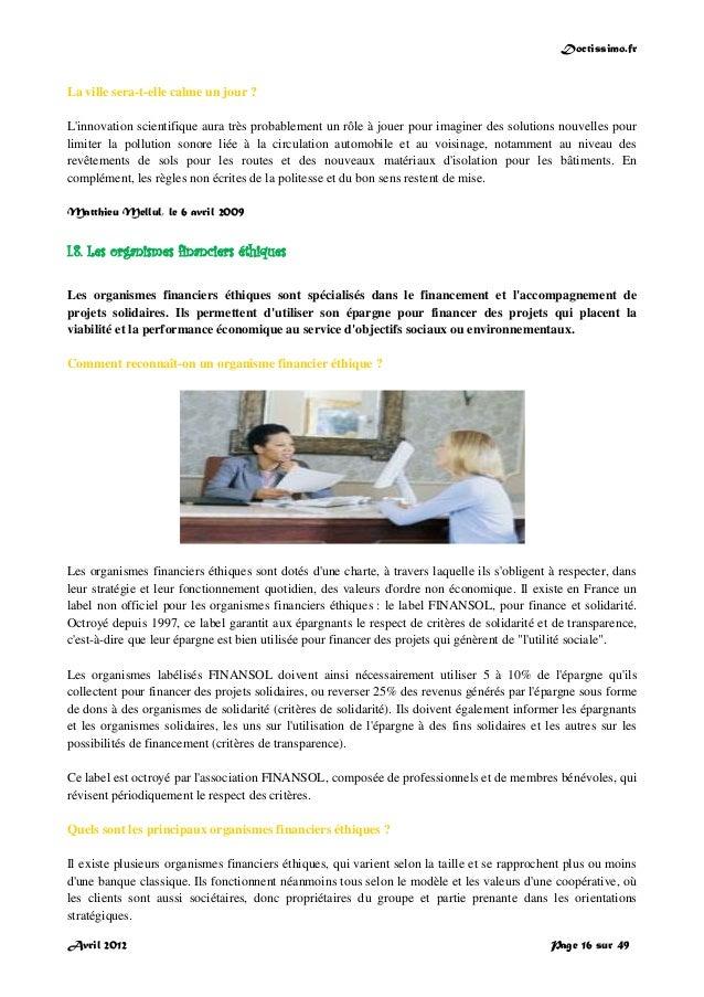 Doctissimo.fr Avril 2012 Page 16 sur 49 La ville sera-t-elle calme un jour ? L'innovation scientifique aura très probablem...