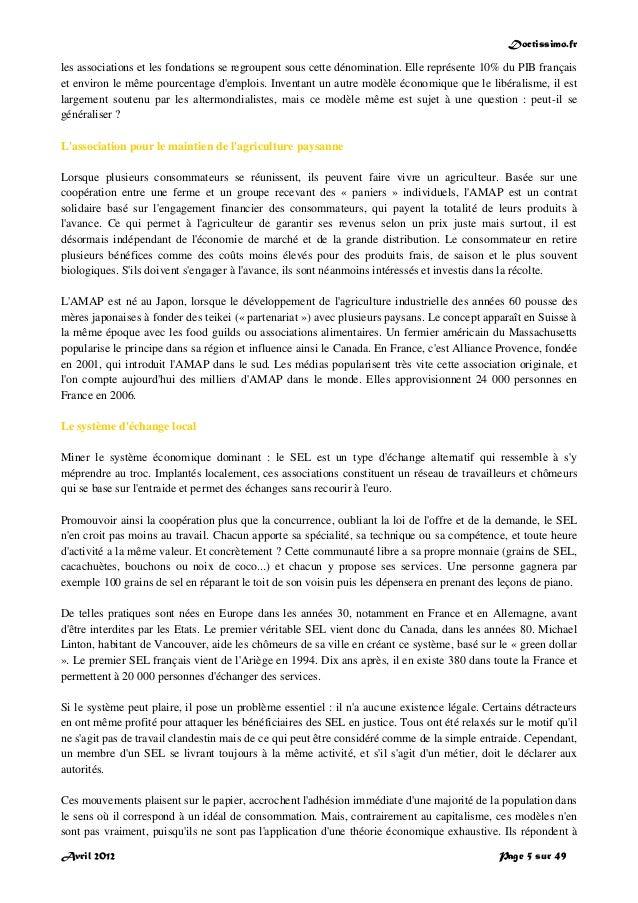 Doctissimo.fr Avril 2012 Page 5 sur 49 les associations et les fondations se regroupent sous cette dénomination. Elle repr...