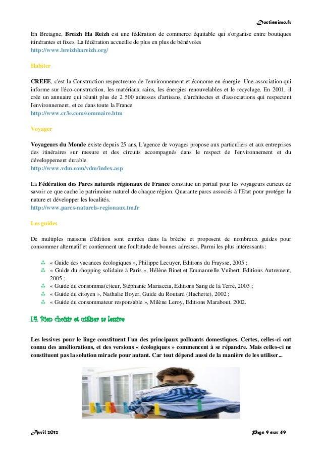 Doctissimo.fr Avril 2012 Page 9 sur 49 En Bretagne, Breizh Ha Reizh est une fédération de commerce équitable qui s'organis...