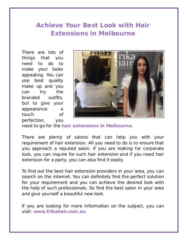 Achieve Your Best Look With Hair Extensions In Melbourne