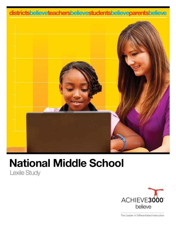 districtsbelieveteachersbelievestudentsbelieveparentsbelieveNational Middle SchoolLexile Study