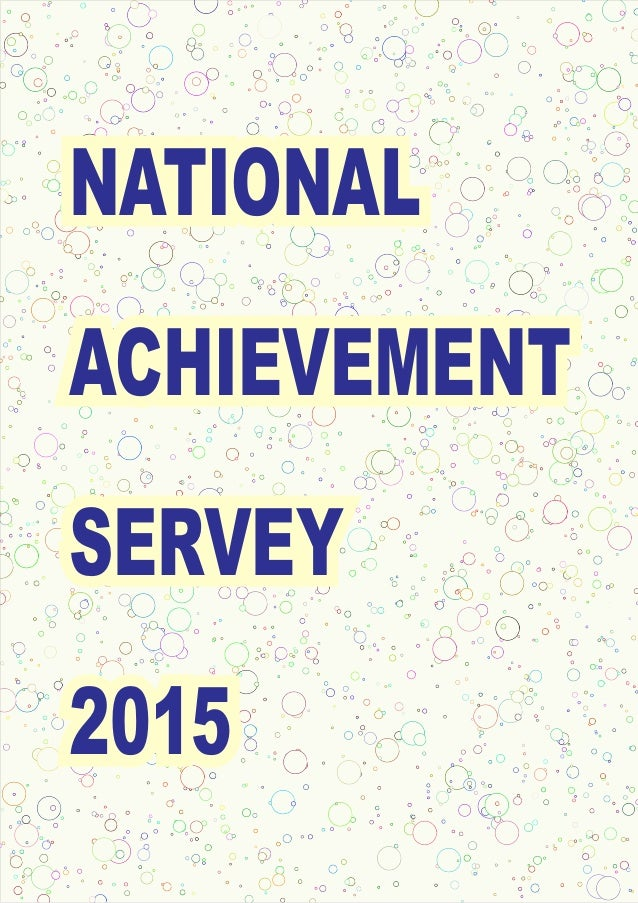 NATIONAL ACHIEVEMENT SERVEY 2015