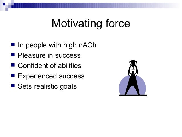 achievement motivation The term achievement motivation may be defined by independently considering  the words achievement and motivation achievement refers to competence (a.