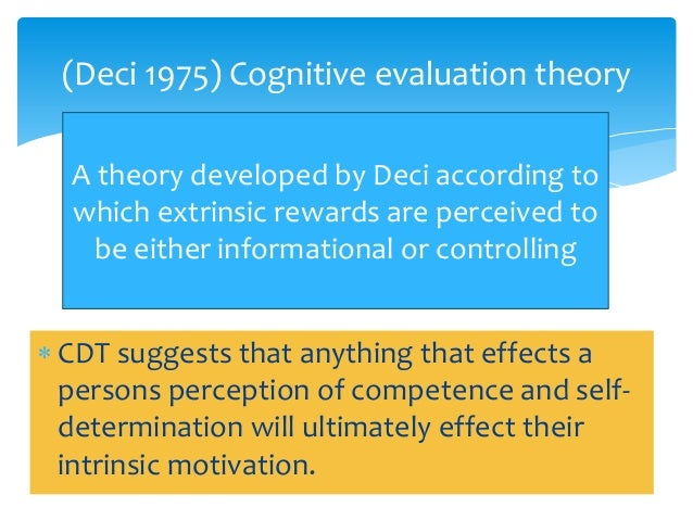 examples of cognitive evaluation theory and expectancy theory Theeffectsofmonetaryincentivesoneffortand taskperformance:theories,evidence,andaframework for example, cognitive-evaluation theory expectancy theory posits.