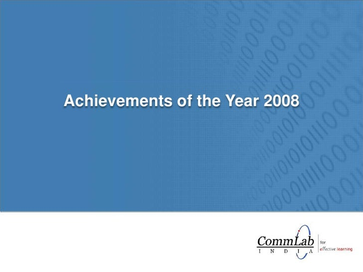 Achievements of the Year 2008<br />