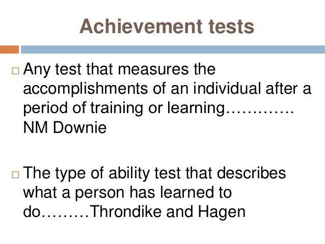 Achievement test - Wikipedia