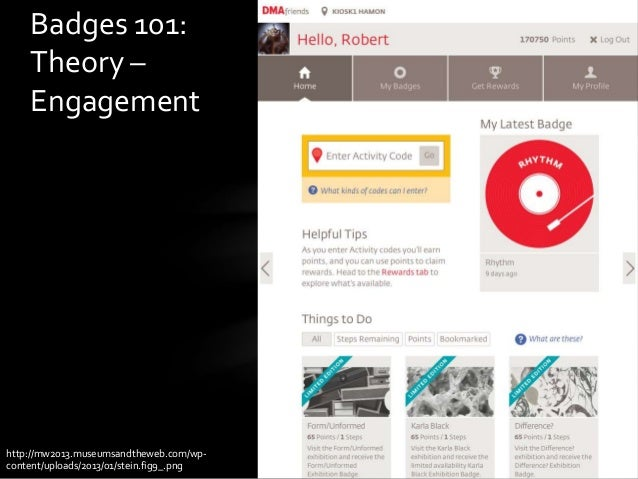 Badges 101: Theory – Engagement http://mw2013.museumsandtheweb.com/wp- content/uploads/2013/01/stein.fig9_.png