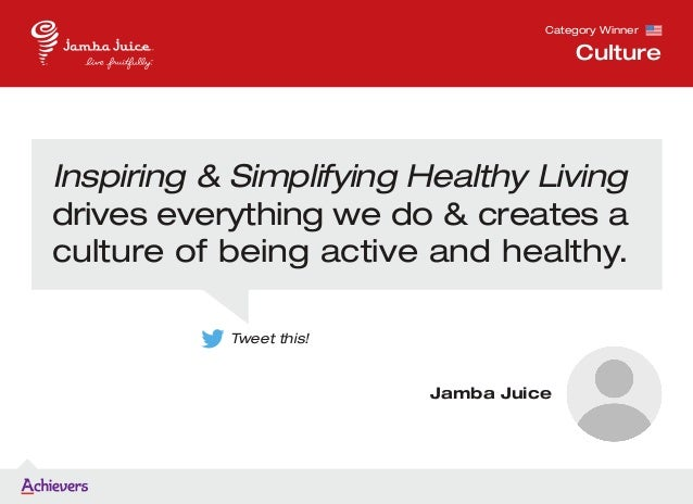 Inspiring & Simplifying Healthy Living drives everything we do & creates a culture of being active and healthy. Category W...
