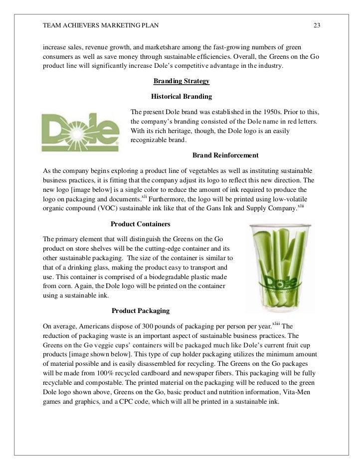 Dole Food Company Marketing Strategy