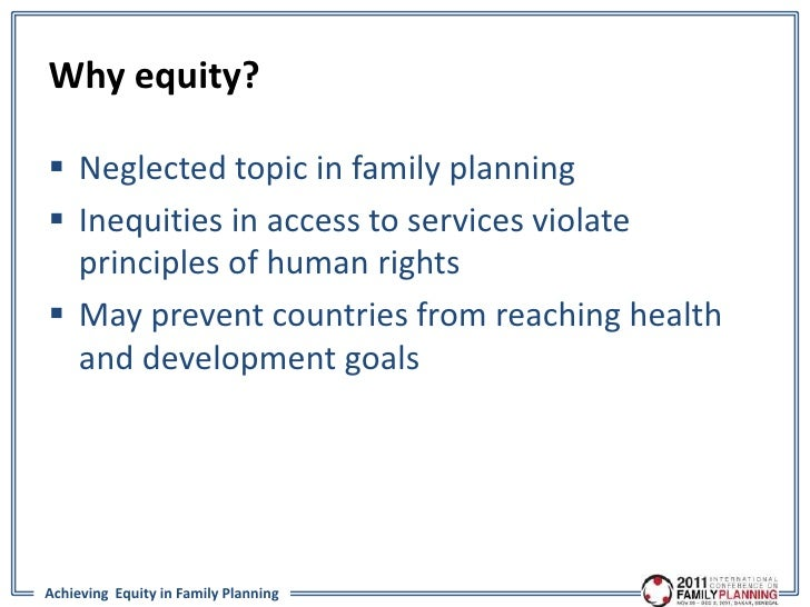 Achieving equity in family planning getting beyond the for Family planning com