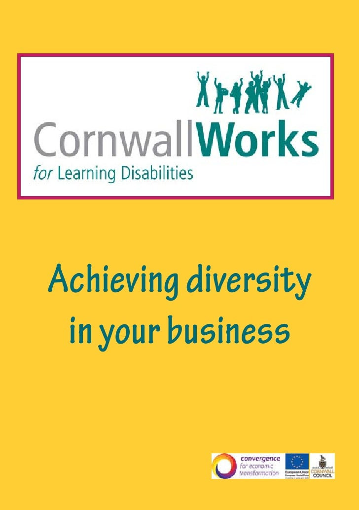 Achieving diversity  in your business