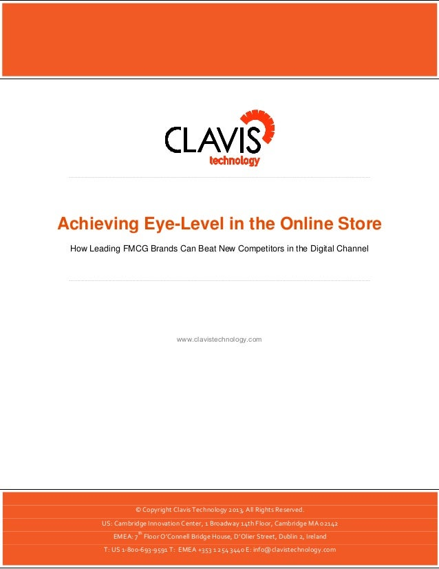 Achieving Eye-Level in the Online Store | 1  Achieving Eye-Level in the Online Store How Leading FMCG Brands Can Beat New ...