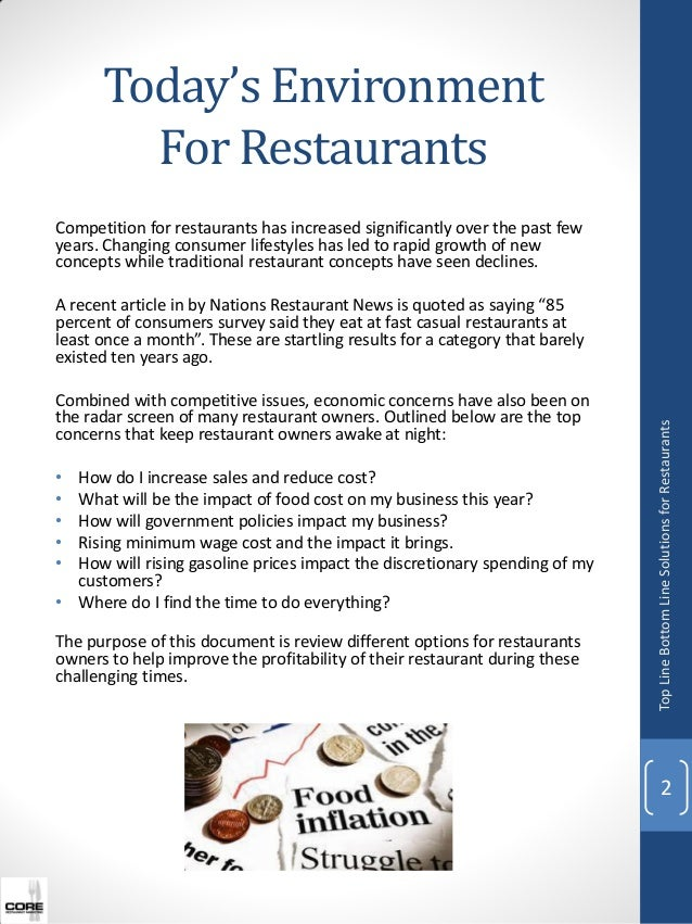 Improving the Profitability of Your Restaurant Slide 2