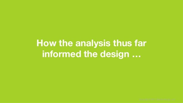 Copyright © 2017 Sterner Design, LLC How the analysis thus far informed the design …