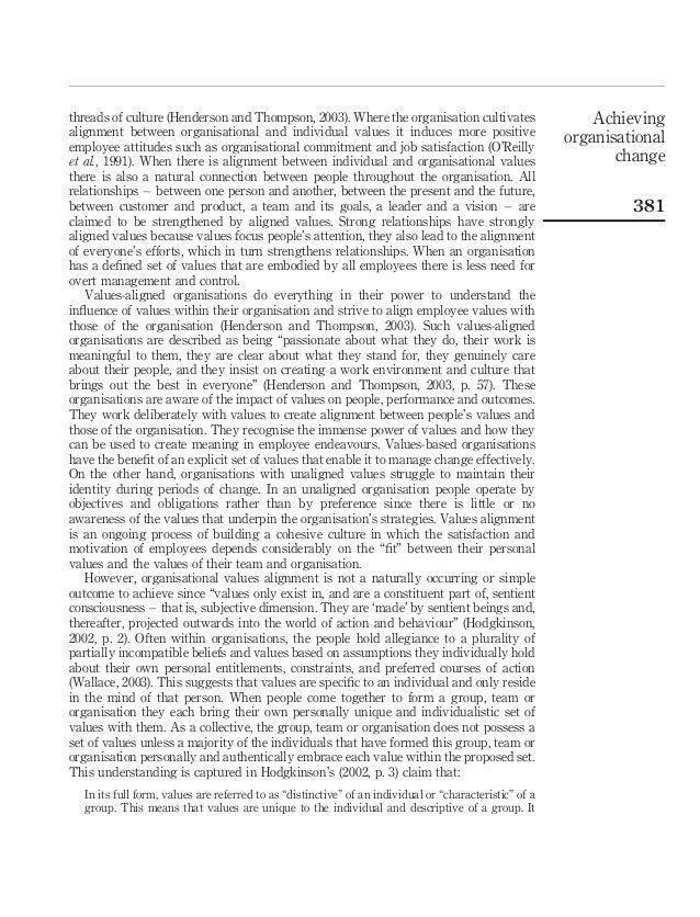 Personal Values Assessment (PVA)