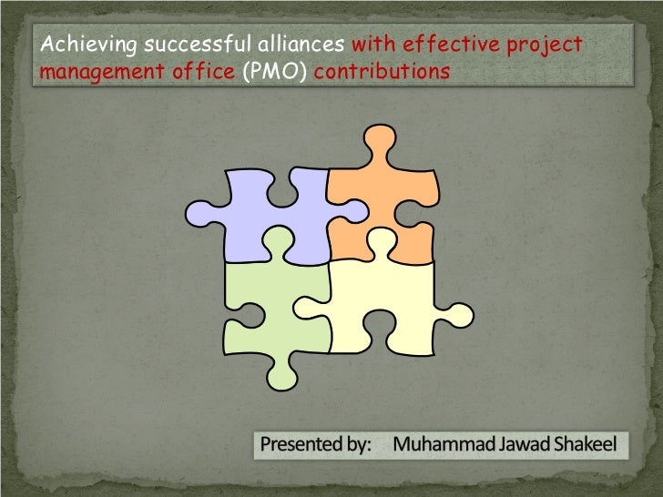 Achieving successful alliances with effective projectmanagement office (PMO) contributions