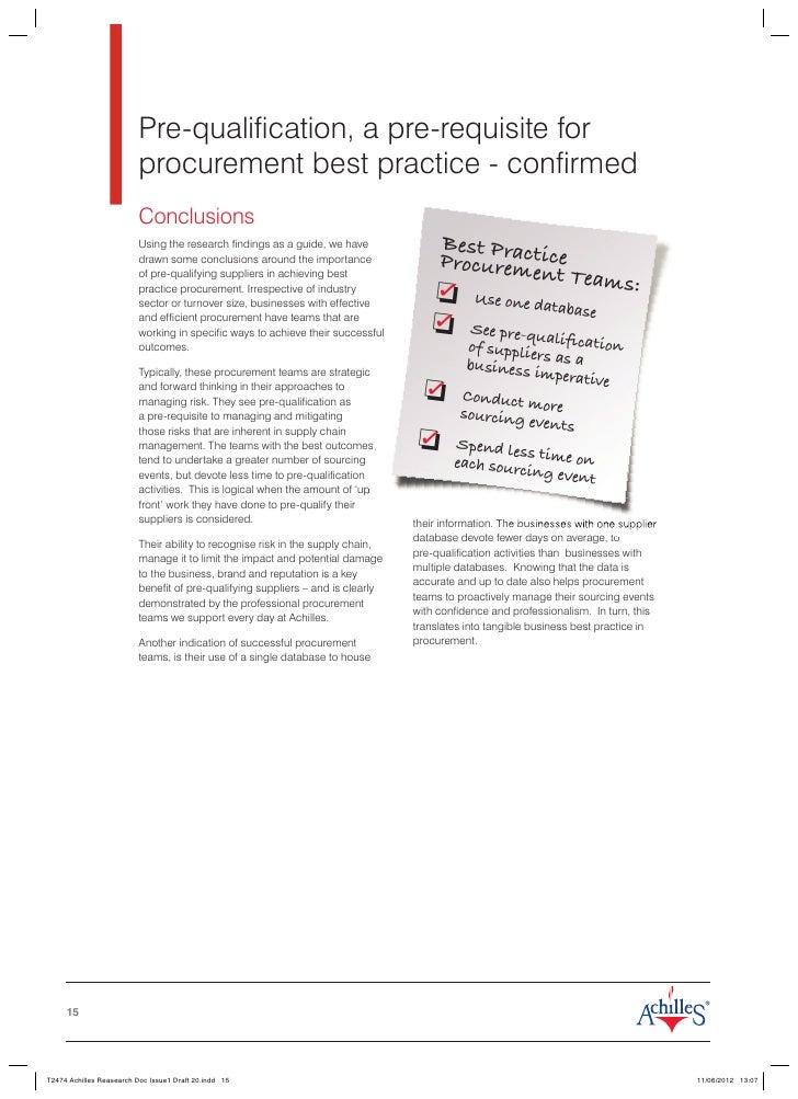 Procurement: Managing suppliers and contractors