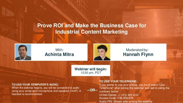 Prove ROI and Make the Business Case for Industrial Content Marketing