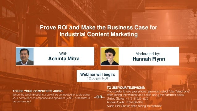 Prove ROI and Make the Business Case for Industrial Content