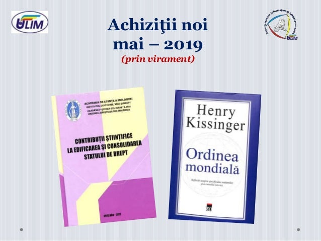 Achiziţii noi mai – 2019 (prin virament)