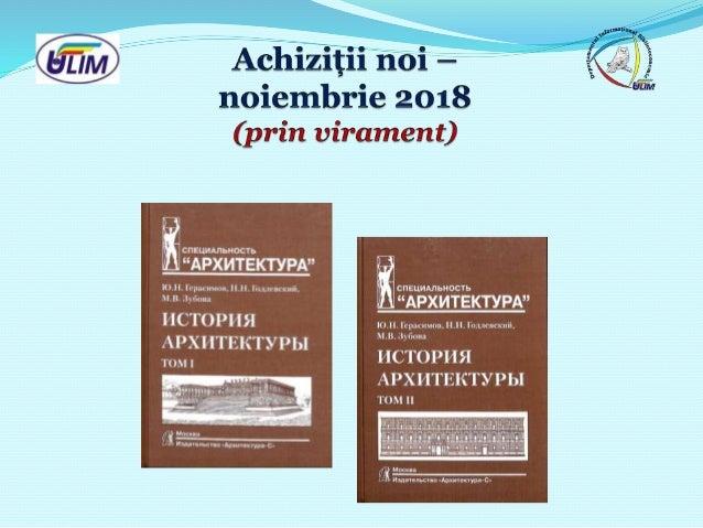 Achiziții noi – noiembrie 2018 (prin virament)