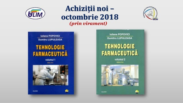 Achiziții noi – octombrie 2018 (prin virament)