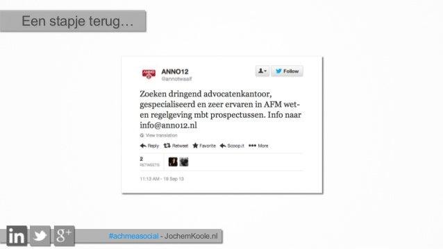 #achmeasocial - JochemKoole.nl Een stapje terug…