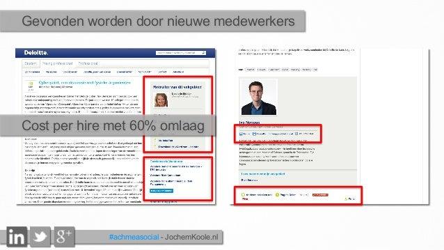 Gevonden worden door nieuwe medewerkers #achmeasocial - JochemKoole.nl Cost per hire met 60% omlaag