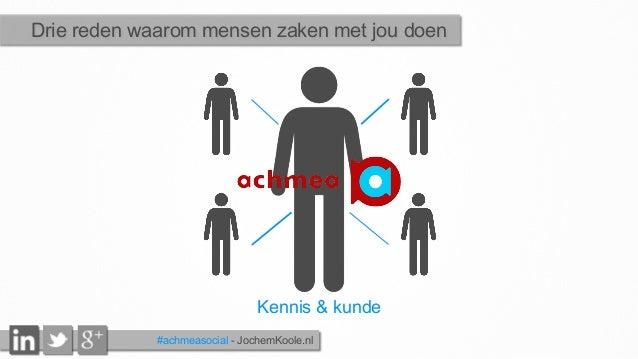 Kennis & kunde Drie reden waarom mensen zaken met jou doen #achmeasocial - JochemKoole.nl