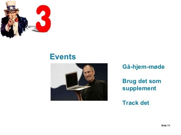 Side  Gå-hjem-møde Brug det som supplement Track det Events