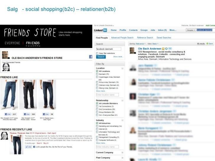 Salg  - social shopping(b2c) – relationer(b2b)