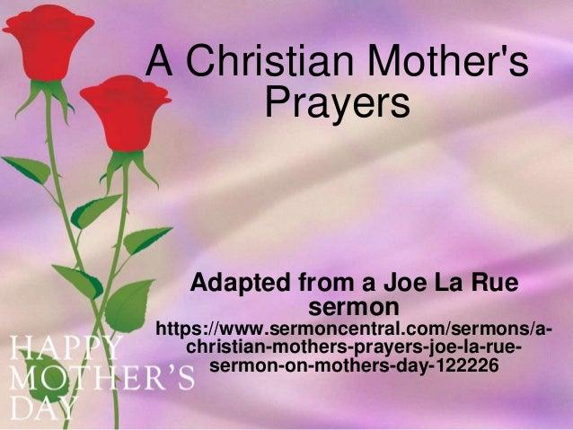 a christian mother's prayers, Powerpoint templates