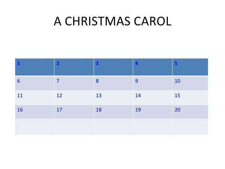 A CHRISTMAS CAROL 1 2 3 4 5 6 7 8 9 10 11 12 13 14 15 16 17 18 19 20