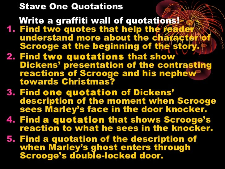 A Christmas Carol Stave 1 Summary.A Christmas Carolstave 1 Find Excellent Quotations And