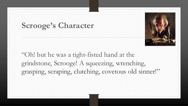 The personality of scrooge essay