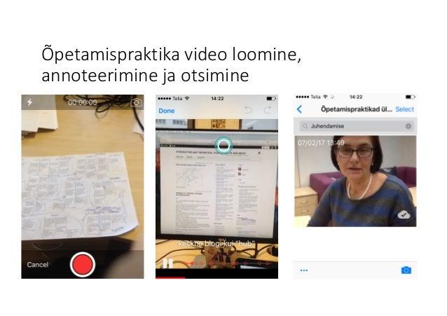 Õpetamispraktika videoloomine, annoteerimine jaotsimine