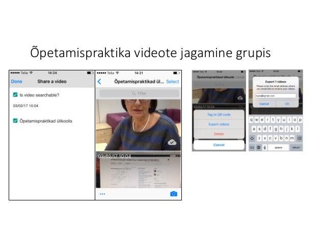 Õpetamispraktika videote jagamine grupis
