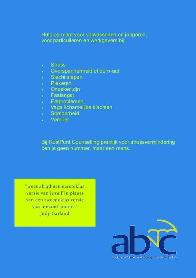 Nieuwe folder RustPunt Counselling praktijk voor ...