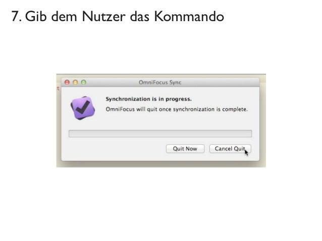 7. Gib dem Nutzer das Kommando