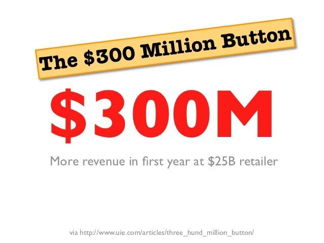llion Bu tton he $30 0 MiT  $?$300MMore revenue in first year at $25B retailer    via http://www.uie.com/articles/three_hun...