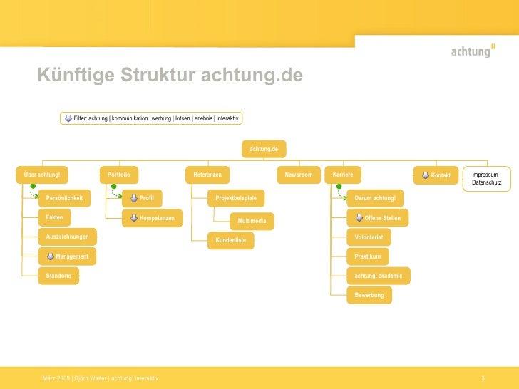 Künftige Struktur achtung.de                     Filter: achtung | kommunikation | werbung | lotsen | erlebnis | interakti...