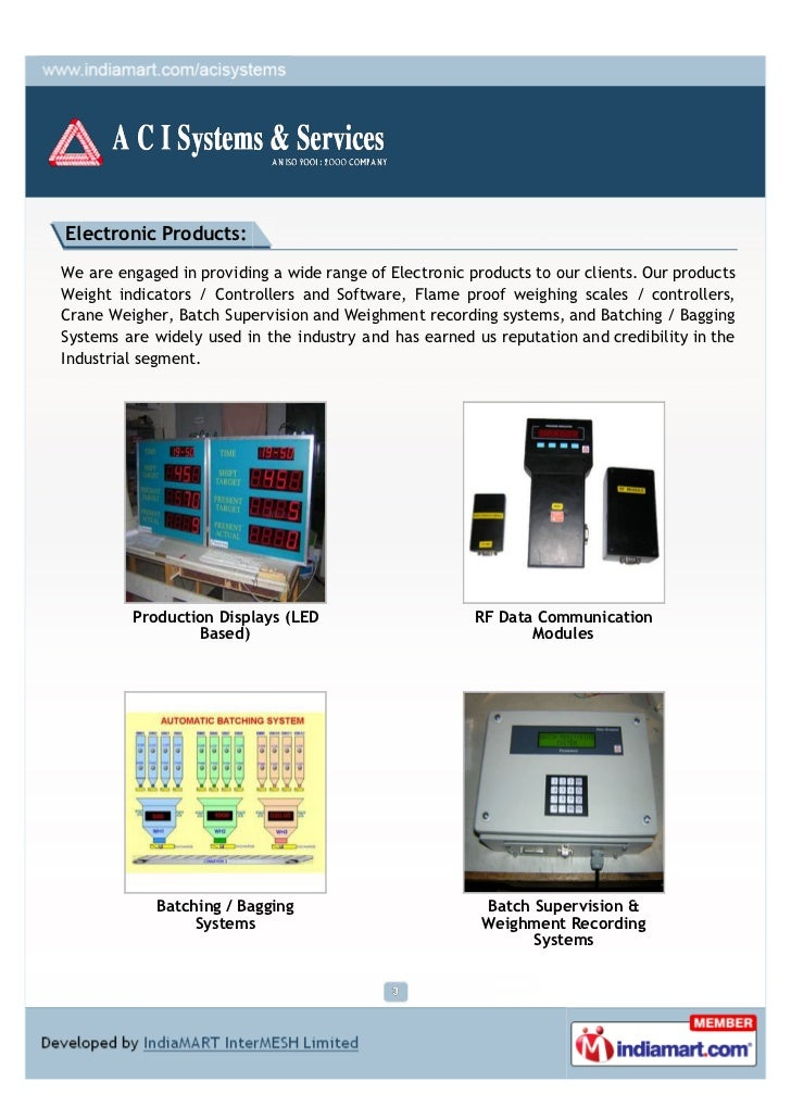 Electronic Products:We are engaged in providing a wide range of Electronic products to our clients. Our productsWeight ind...