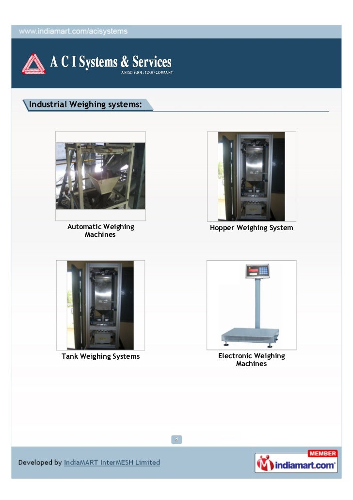 Industrial Weighing systems:         Automatic Weighing    Hopper Weighing System             Machines       Tank Weighing...
