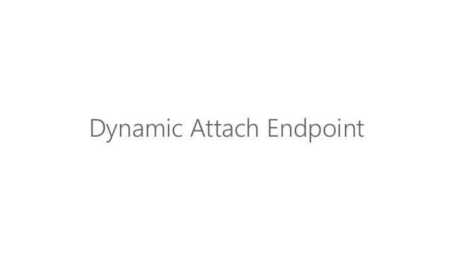 Dynamic Attach Endpoint