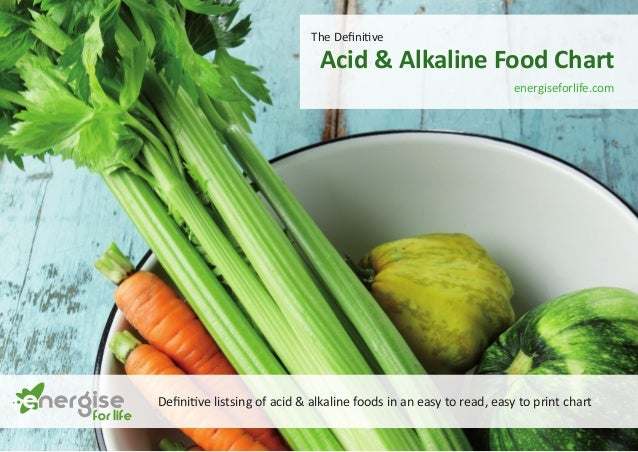 The Definitive  Acid & Alkaline Food Chart  energiseforlife.com  Definitive listsing of acid & alkaline foods in an easy t...