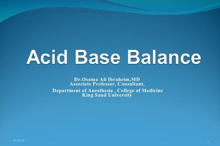 Dr.Osama Ali Ibraheim,MD Associate Professor, Consultant,  Department ofAnesthesia, College of Medicine King Saud Unive...