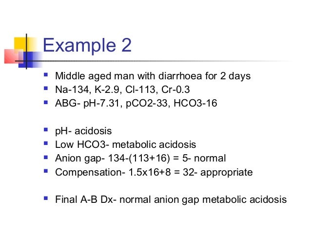 Diabetic Ketoacidosis Abg Example